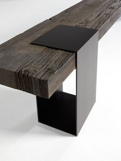 "Fantastic ""counter height table rectangle"" information is offered on our website. Industrial Furniture, Wooden Furniture, Cool Furniture, Furniture Design, Beton Design, Wood Design, Wood Steel, Wood And Metal, Bench Designs"