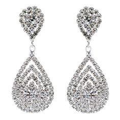 For the Bridal Party? Bridal Wedding Jewelry Beautiful Dazzle Crystal Dangle Fashion 3D Earring Silver Accessoriesforever http://www.amazon.com/dp/B00B79ZAAS/ref=cm_sw_r_pi_dp_rojGub18FH360