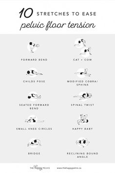 Do you have pelvicpain? Here are 10 stretches to help ease pelvicfloor tension. Endometriosis Pain, Endometriosis Awareness, Health Tips, Health And Wellness, Health Fitness, Health Benefits, Health Care, Floor Workouts, Yoga Exercises
