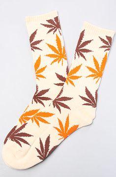 Exclusive Plantlife Socks in Soda Cream, Brown,