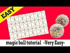 折り紙:マジックボール折り方のコツ magic ball tutorial [Very Easy] - YouTube