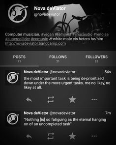 I would really like to leave fb/tw/ig corporate monoverse and live a better communal life on the rainbow fediverse connected with OStatus protocol (Mastodon GNUsocial Diaspora Frendica Hubzilla). I'm really enjoying my time on witches.town with a lovely mobile client Tusky at the moment. Follow me by adding novadeviator@witches.town  #fediverse #decentralized #federated #socialnetwork #mastodon #lgbtqiap #antifa #antinazi #tusky #ostatus #gnusocial