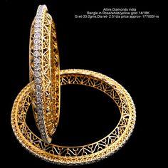 Two Tone Sterling Channel Diamond Bracelet – Modern Jewelry Gold Bangles Design, Gold Jewellery Design, Gold Jewelry, Designer Bangles, Bridal Jewellery, Fine Jewelry, Silver Bracelets, Bangle Bracelets, Ladies Bracelet
