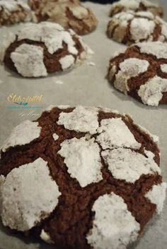 Crunchy outside, soft inside: chocolate pöffeteg Hungarian Cake, Hungarian Recipes, Healthy Cookies, Food Crafts, Winter Food, Cake Cookies, Cookie Decorating, Cookie Recipes, Food And Drink