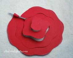 Rolled Paper Flower Tutorial Cut A Circle Out Of Paper I