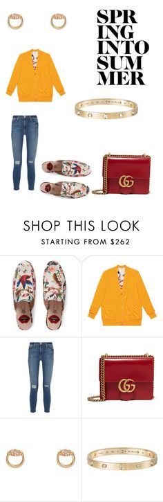 """Presenting the Gucci Garden Exclusive Collection: Contest Entry"" by jazzybelle1 ❤ liked on Polyvore featuring Gucci, Frame Denim, Cartier and gucci"