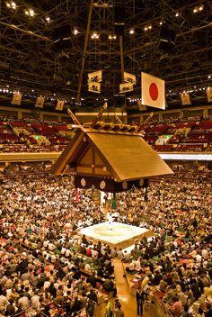 Sumo arena at Kokugikan, Tokyo, Japan