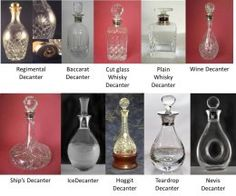 Decanters with hallmarked sterling silver collars/tops, with any engraving that you want on the silver, and any etching that you want on the glass  £400.00 plus p&p, 6 weeks to deliver