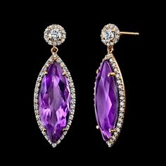 """Hubert Jewelry - Amethyst is the birthstone for February and the gem for the 6th and 17th wedding anniversaries. Amethyst was as expensive as Ruby and Emerald until the 19th Century, when Brazil's large deposits were discovered. It was believed to prevent intoxication—amethystos means """"not drunk"""" in ancient Greek. Today, as the most valued Quartz variety, Amethyst is in demand for designer pieces and mass-market jewelry alike, and its purple to pastel hues retain wide consumer appeal."""