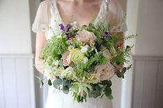 beautiful bouquet by Linton, cambridge florest The Flower Boutique and wedding dress by Jenny Packham