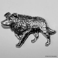 Bull Terrier Brooch Pin Badge made with UK Pewter /& Gift Box Option