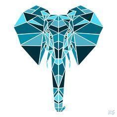 geometric elephant - Buscar con Google
