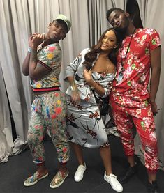 SneakHER Style: Rihanna in Puma Basket Classics x Ganni Floral Separates…