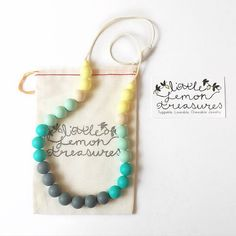 Teething Necklace Silicone Chew Necklace by LittleLemonTreasures Nursing Necklace, Teething Necklace, Mom Gifts, Gifts For New Moms, Personalized Mother's Day Gifts, Unique Baby Gifts, Baby Wearing, Mothers, Prince
