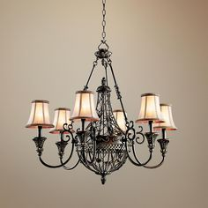 """I finally found it...Do you Love it or Not!!!!     Marchesa Collection 33"""" Wide 6-Light Chandelier -"""