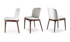 Design: Studio Kronos Favázas szék karfás és karfa nélküli kivitelben. A fa lábrész kérhető natúr tölgy, dióra és wengére pácolt