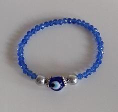 PandaHall Customer Show---Glass beads bracelet