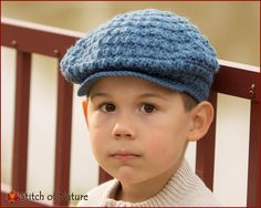Crochet PATTERN - The Collins Scally Cap, Newsboy Hat, Vintage Hat Pattern (Newborn to Adult sizes - Girls, Boys) - id: 16038