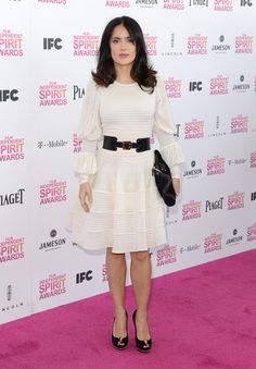 Salma Hayek Wore Alexander McQueen at the 2013 Independent Spirit Awards