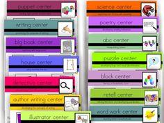 Literacy Center Icons