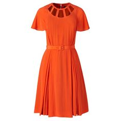 #OrlaKiely silk crepe cut out dress