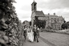 Exterior of Brympton House in Somerset England, a wedding venue in the english countryside