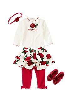 Rosebud outfit for Annabelle Rose??      Baby Rosebud  Cute rosette bodysuit and floral skirted legging pair up for cheery holiday style. Rose fruffle and dressy crib shoe add sweet flower fashion.
