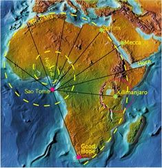 The continent of Africa is the Fibonacci spiral! Amazing!