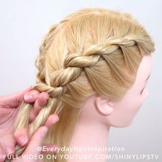 Hair Tips Video, Hair Videos, Easy Hairstyle Video, Basic Hairstyles, Hairstyles For Summer, Hair Style Vedio, Braids Tutorial Easy, Rave Hair, Girl Hair Dos