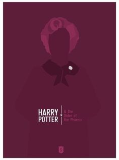Harry Potter and the Order of the Phoenix: minimalist character-themed remake of poster
