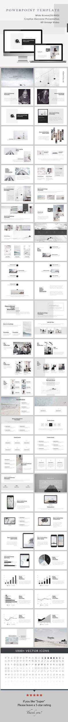 Concise - Minimal PowerPoint Presentation - Creative PowerPoint Templates