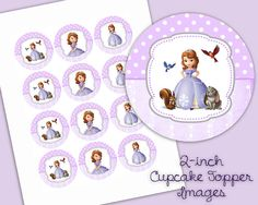 Junior Princess  2 inch Circles  Great for Cupcake by LalaHeaven, $2.50