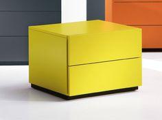 Comodino rettangolare con cassetti HARU 45 cm Collezione HARU by EmmeBi design Pietro Arosio