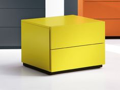Rectangular bedside table with drawers HARU 45 cm HARU Collection by EmmeBi design Pietro Arosio