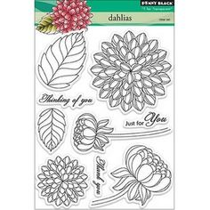 Penny Black Clear Stamps 5X6.5in Sheet-Dahlias