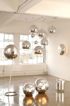 The Mirror Ball Pendant Light by Tom Dixon