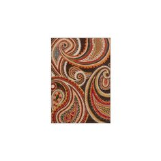 Meticulously Woven Contemporary Paisley Floral Rug ($292) ❤ liked on Polyvore featuring home, rugs, paisley area rug, contemporary modern area rugs, non skid rugs, paisley rug and woven rugs