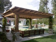 Pergola? Arbor? Porches Pergola's Ideas and Concepts  RealPalmTrees.com #design #REalPalmTrees