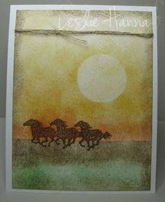 AUG11VSNMINI5 - Bareback Sunset by meerkat3 - Cards and Paper Crafts at Splitcoaststampers