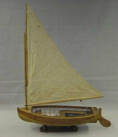 A Commercially Made Una Rigged Pond Yacht