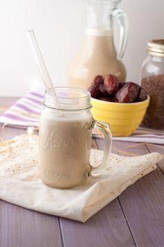 homemade flax milk .
