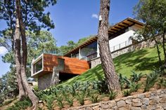 Awesome house! EMA, Espacio Multicultural Arquitectura, designed the Forest House located in Mazamitla, Mexico.
