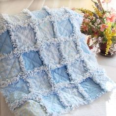 Elephant Baby Rag Quilts Rag Quilt Baby by LoveableQuiltsNMore ... : boy rag quilt - Adamdwight.com