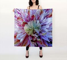 #Floral #Silk #Scarf #Lightweight #Womens #Fashion #Accessory #Spring #Summer by WhimZingers on Etsy $40