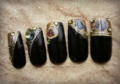 Gothic Nail Art Rose Seduction Gothic Fake by Nevertoomuchglitter, $20.00