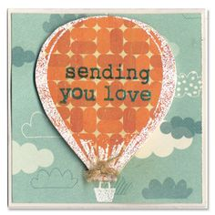 Hot Air Balloon Mini Card