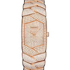 Papai Noel, um desse iria bem! Tiffany Tesoro® watch in 18k rose gold with diamonds, quartz movement.