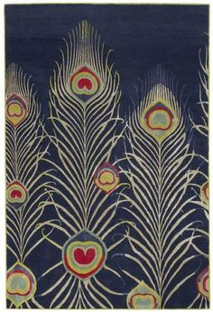 Matthew Williamson, a young British designer known for his bright colors and Bohemian patterns, created this rug for The Rug Company -- another British brand. (therugcompany.info)