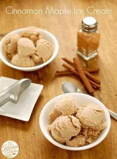 Cinnamon Maple Ice Cream l www.a-kitchen-addiction.com