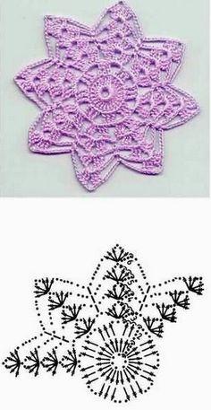 38 Ideas knitting charts christmas free crochet for 2019 Free Crochet Doily Patterns, Crochet Snowflake Pattern, Crochet Flower Tutorial, Crochet Circles, Crochet Snowflakes, Crochet Chart, Crochet Squares, Thread Crochet, Crochet Designs